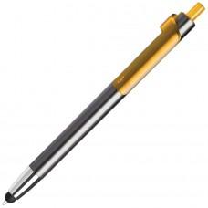 PIANO TOUCH, ручка шариковая со стилусом для сенсорных экранов, графит/желтый