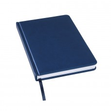Ежедневник недатированный Bliss, А5,  темно-синий, белый блок, без обреза
