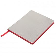 Ежедневник недатированный Arti, B6+, серебристый, кремовый блок, красный обрез