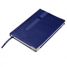 Ежедневник недатированный ASTON, А5,  синий, белый блок, без обреза