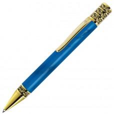 GRAND, ручка шариковая, синий/золотистый