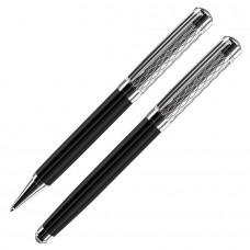 CASTLE, набор:ручка шариковая и ручка-роллер (без футляра)