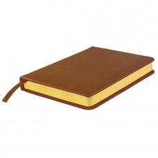 Ежедневник датированный Joy, А5,  коричневый, белый блок, золотой обрез