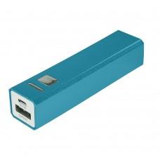 Внешний аккумулятор Alum 2800 мАч, ver.2, сине-бирюзовый