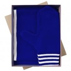 Набор Best: шапка, шарф и варежки, ярко-синий