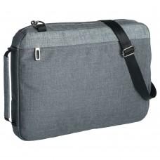 Конференц-сумка 2 в 1 twoFold, серый с темно-серым
