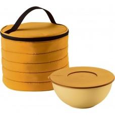 Набор Handy: термосумка и контейнер, круглый, желтый