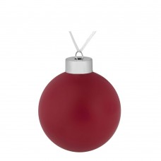Елочный шар Color, 8 см, красный
