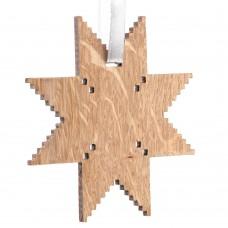 Деревянная подвеска Carving Oak, в форме снежинки