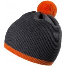 Шапка Amuse, темно-серая с оранжевым
