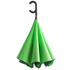 Зонт наоборот Unit ReStyle, трость, зеленый