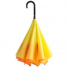Зонт наоборот Unit Style, трость, оранжево-желтый