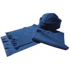 Комплект Unit Fleecy: шарф и шапка, синий