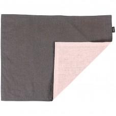 Сервировочная салфетка Essential с пропиткой, серая с розовым