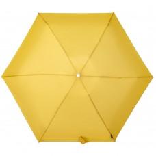 Складной зонт Alu Drop S, 4 сложения, автомат, желтый (горчичный)