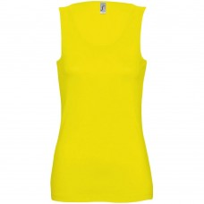 Майка женская JANE 150, желтая (лимонная)