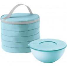 Набор Handy: термосумка и контейнер, круглый, голубой