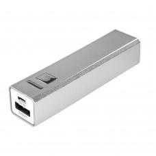 Внешний аккумулятор Alum 2800 мАч, ver.2, серебристый