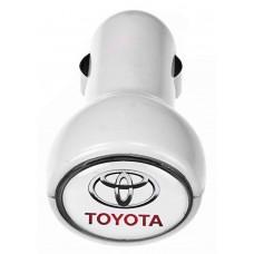 Автомобильное зарядное устройство с подсветкой Logocharger, белое